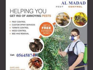 مكافحة حشرات وتنظيف المنازل